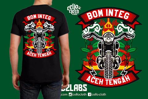 Kaos Komunitas Motor Bom Integ - Contoh Desain Kaos Sablon Rubber Plastisol