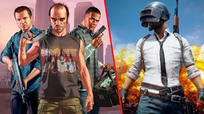 Addictive Games, Most addictive games, Pubg, GTA V