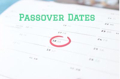 passover 2017 dates