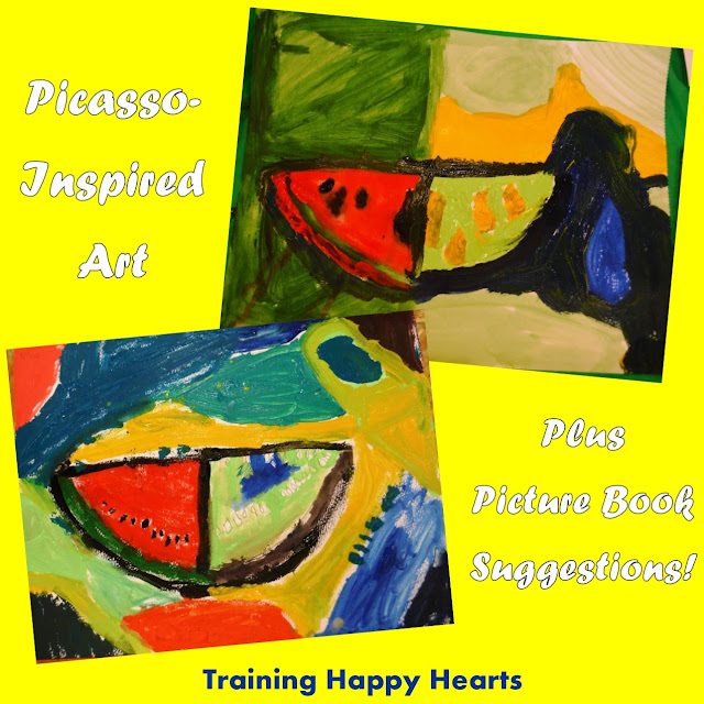 http://traininghappyhearts.blogspot.com/2015/06/paint-and-read-picasso.html