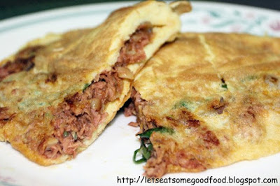 Fluffy+Tuna+Omelette - Fluffy Corned Tuna Omelette Recipe