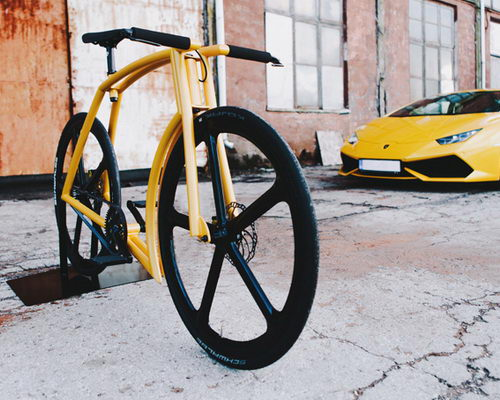 Tinuku.com Indrek Narusk bring aluminum alloy design for Vicks GT bike inspired Lamborghini