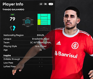 PES 2021 Faces Thiago Galhardo