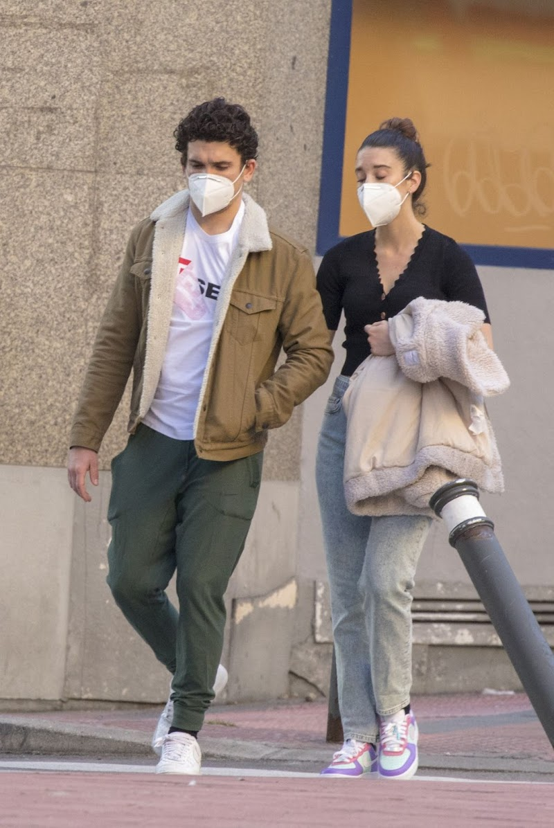 María Pedraza and Jaime Lorente Wearing Masks Out in Madrid 18 May -2020