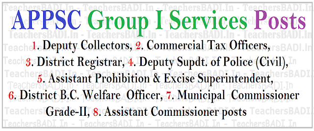 APPSC Group I Posts,hall tickets,results, online application form