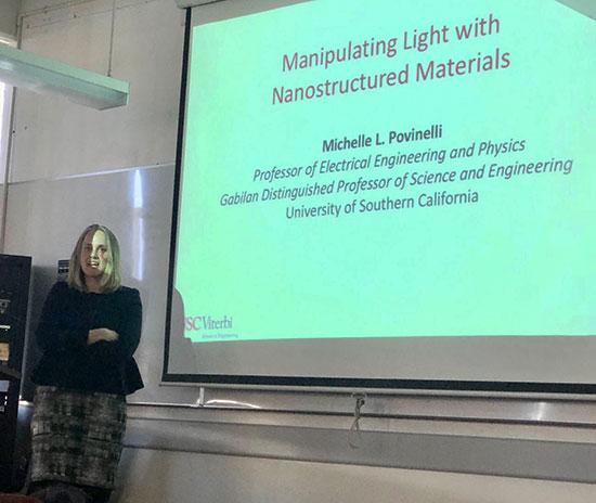 Professor Povinelli, USC, talks at CSULB about optics and nanostructured materials (Source: Palmia Observatory)