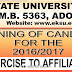 EKSU Affiliate Colleges 2016/2017 Admission Screening Exercise Begins