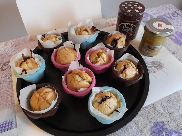 Ricetta muffin alla crema di nocciole e pistacchio