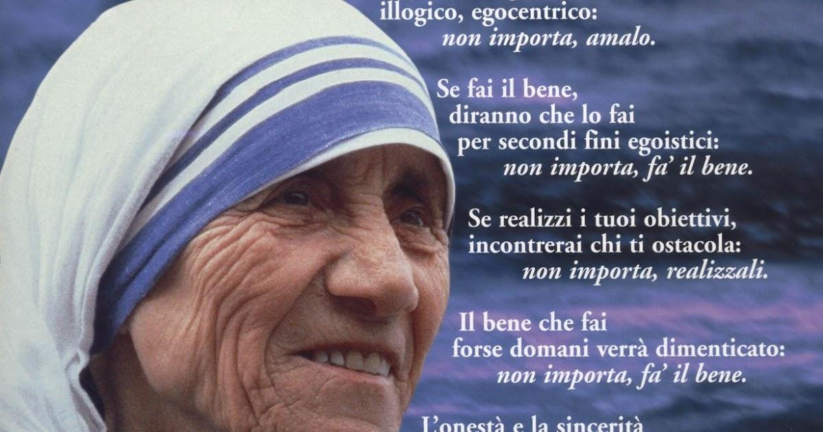 Auguri Matrimonio Madre Teresa : Madre teresa di calcutta frasi sulle donne