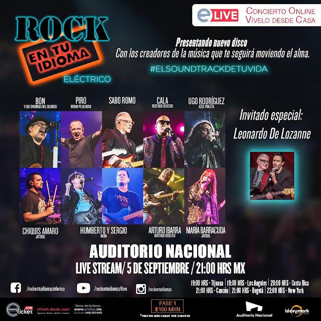 """Todo listo para la presentación de Rock En Tu Idioma """"Eléctrico"""" vía streaming"""