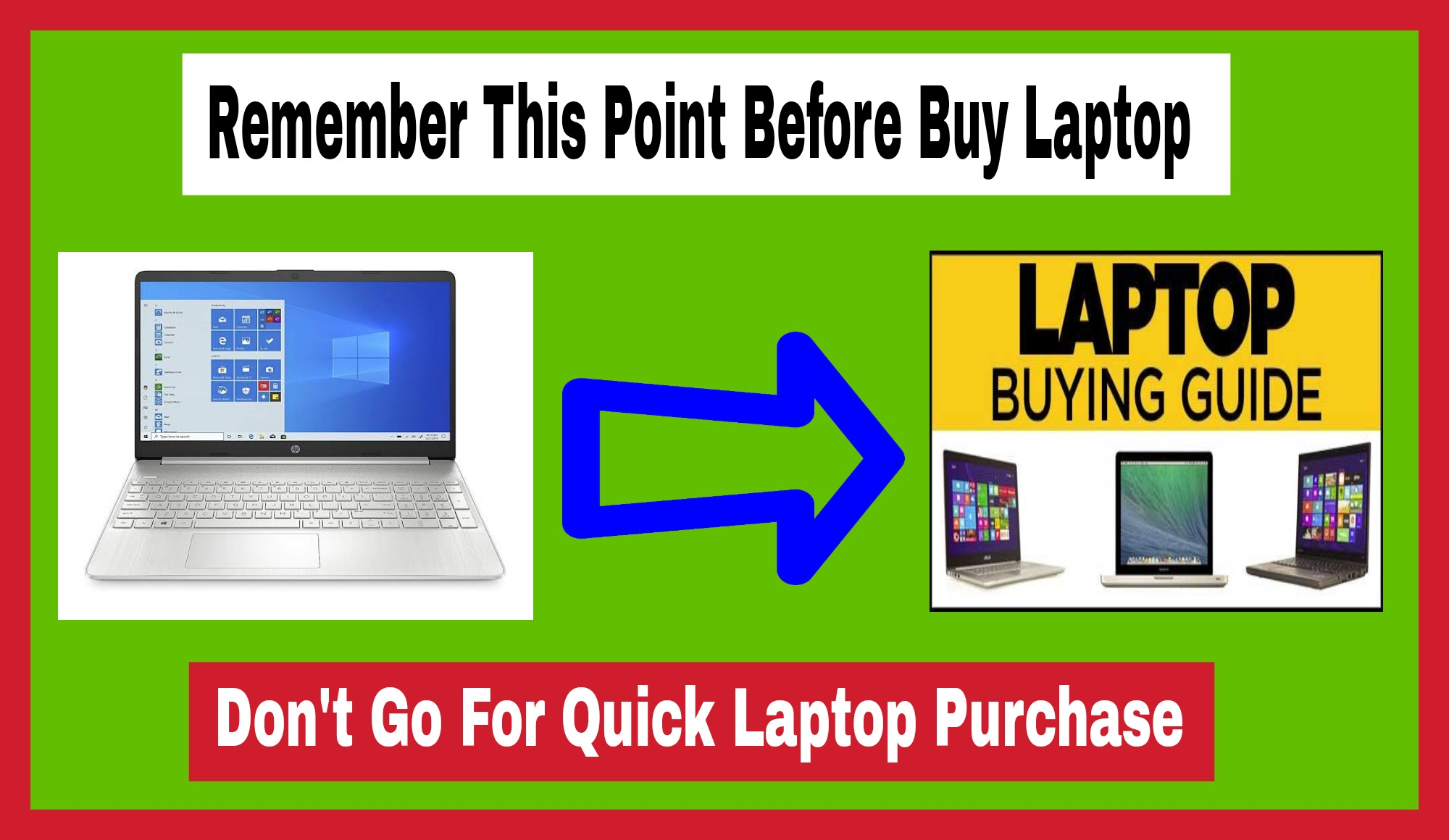 Remember this Point before Buy a Laptop