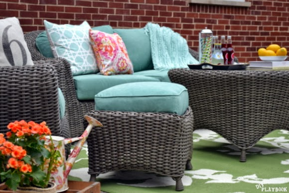 Patio Reveal: Before & After Pictures - Doesn't this look like a place you want to hang out?