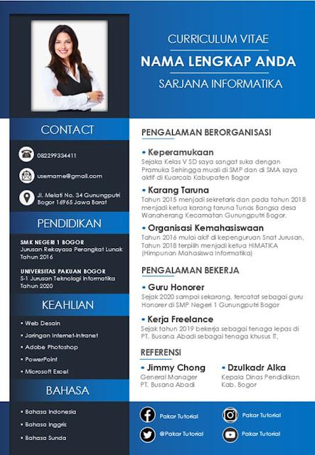 Template CV yang Keren