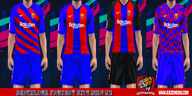1bb847efb Barcelona Fantasy Kits 2019 v3 For PES PSP (PPSSPP) - PES FREE DOWNLOAD