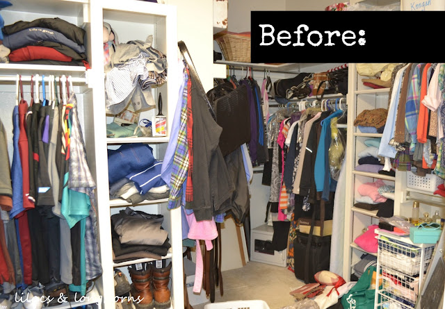 closet organizing tips revisited lilacs and 21102 | closet before resize 640 2c444