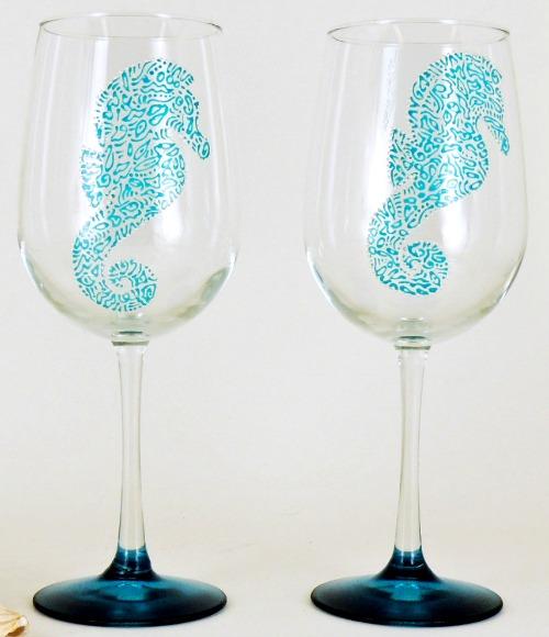 Turquoise Wine Glasses