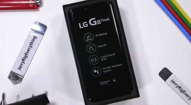 LG G8 ThinQ اختبار المتانة 1