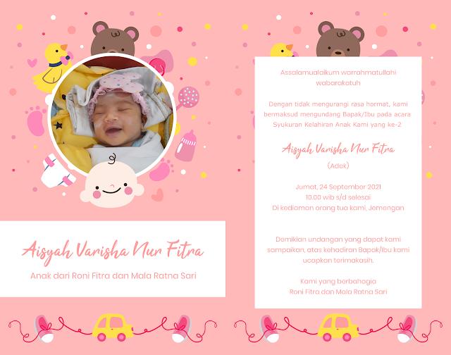 Download Desain Undangan Tasyakuran Bayi Gratis Bisa di Edit