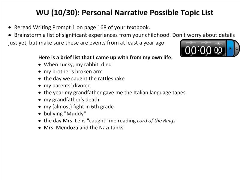 personal Today narratives teens s