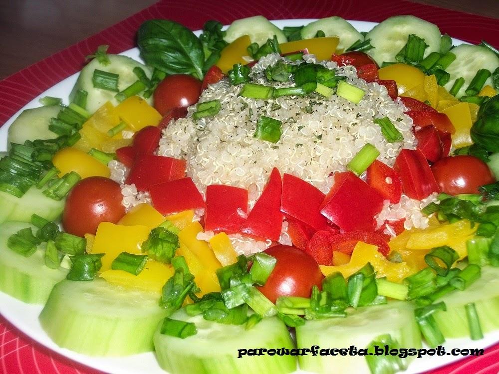 Quinoa z warzywami z parowaru