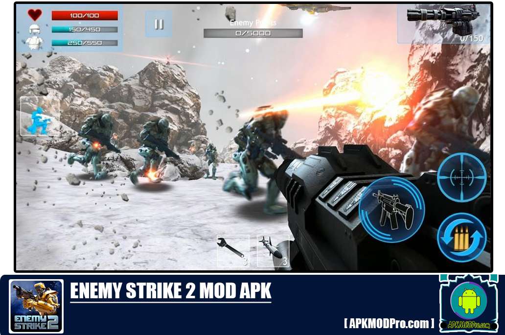 Download Enemy Strike 2 Mod Apk v1.0.4 (Unlimited Health + Ammo)