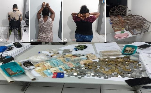 PC E GM PRENDEM ACUSADOS DE TRAFICO DE DROGAS E CORRUPÇÃO ATIVA
