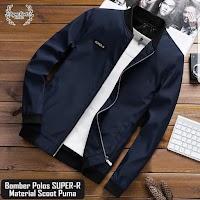 Jaket Bomber Simple Pria Elegants / Jaket Modern Masa Kini