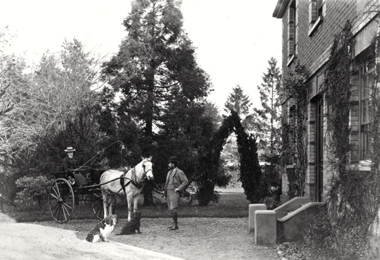 Photograph of Welham Manor 'The Laurels' Captain and Mrs Brock in the 1900s - Image from P. Grant / G. Knott