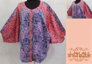 Model gambar desain baju batik untuk wanita gemuk terbaru ...