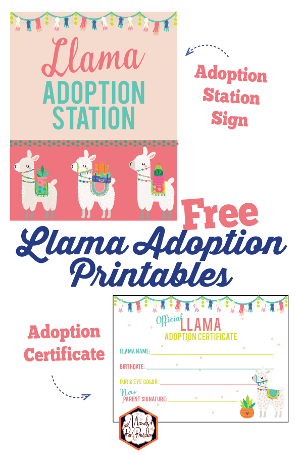 Musings of an Average Mom: llama birthday printables