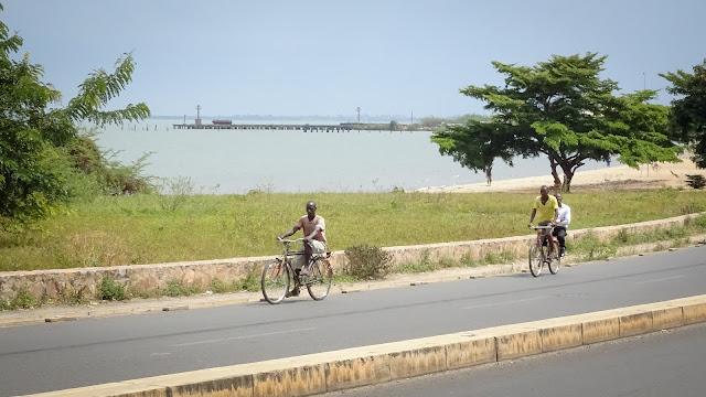 Nice to ride the two wheels along Lake Tanganyika