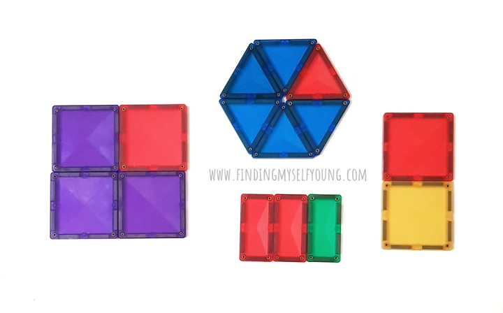 shape fractions made from magnetic tiles