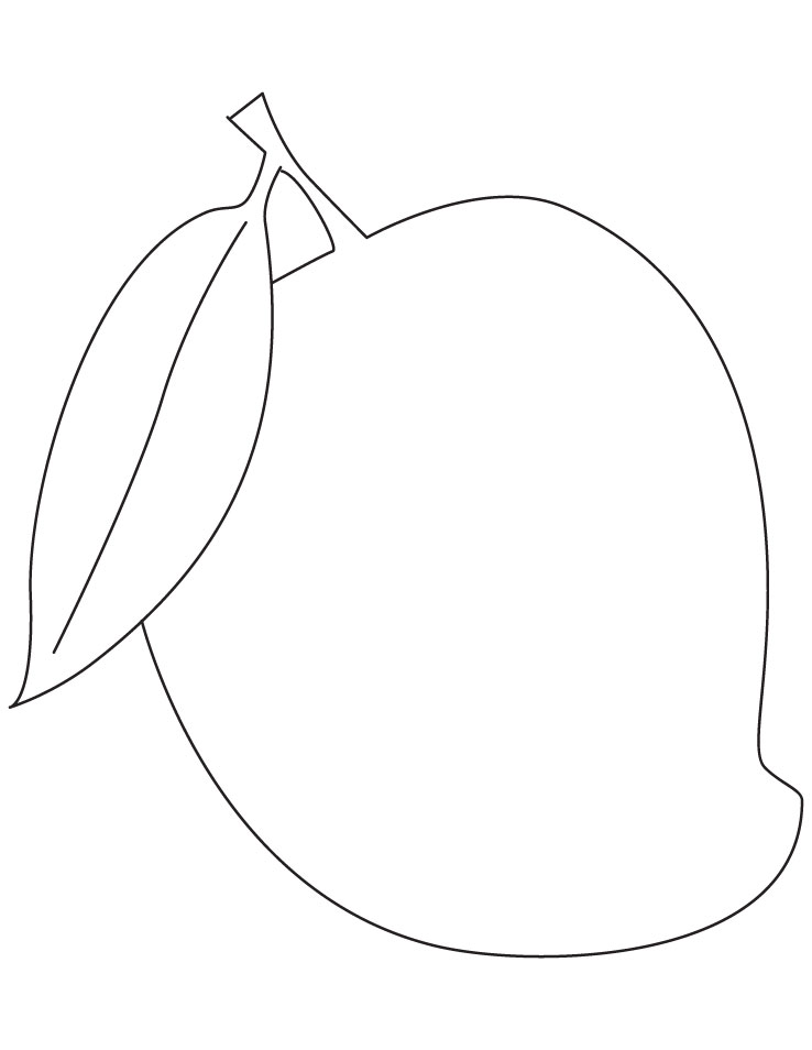 Mata De Mango Para Colorear Mango Para Colorear E Imprimir