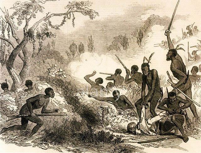 Native Xhosa warrior