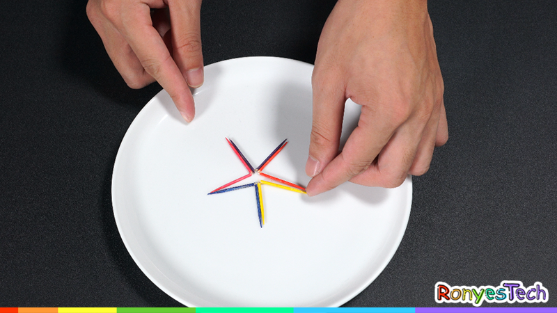 Rainbow Toothpick Star - Science Experiment