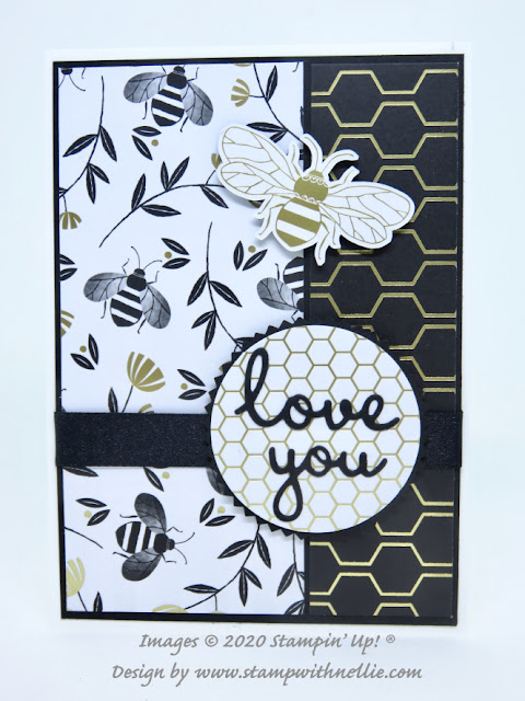 Golden Honey Bee Stampin Up