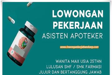 Lowongan Kerja Asisten Apoteker Tamansari Bandung