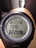 Timing on Lance Eaton's first half-marathon.