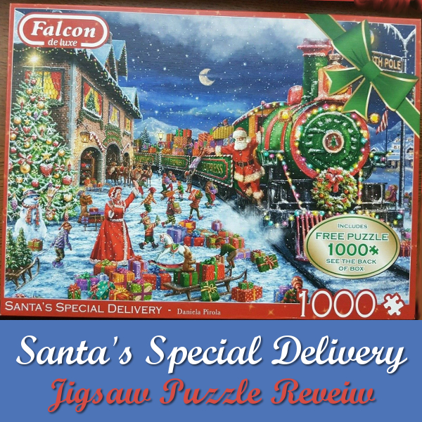 Falcon de luxe Santa's Special Delivery Jigsaw Puzzle Review Christmas Jigsaws Puzzles Daniela Pirola artist art 1000 piece Festive train