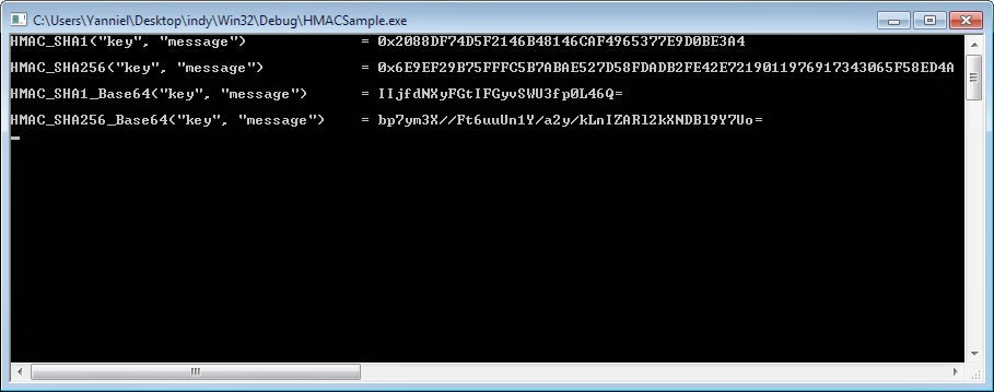HMAC Sample Application Delphi