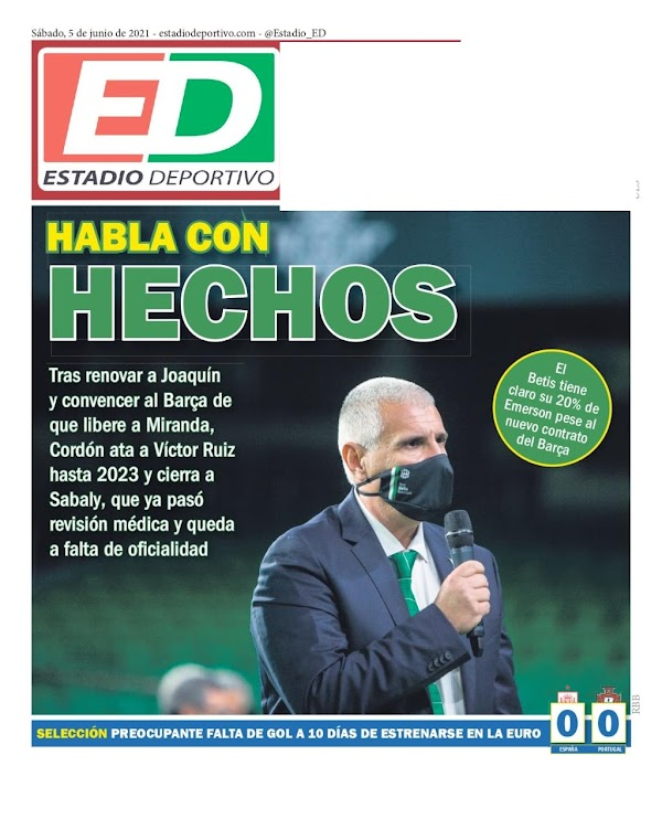 """Betis, Estadio Deportivo: """"Habla con hechos"""""""