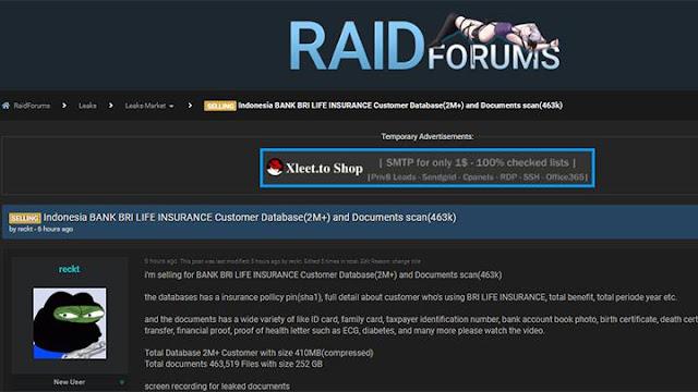 Pemerintah Selidiki Dugaan Bocornya Data 2 Juta Nasabah BRI Life dan Dijual Online.lelemuku.com.jpg