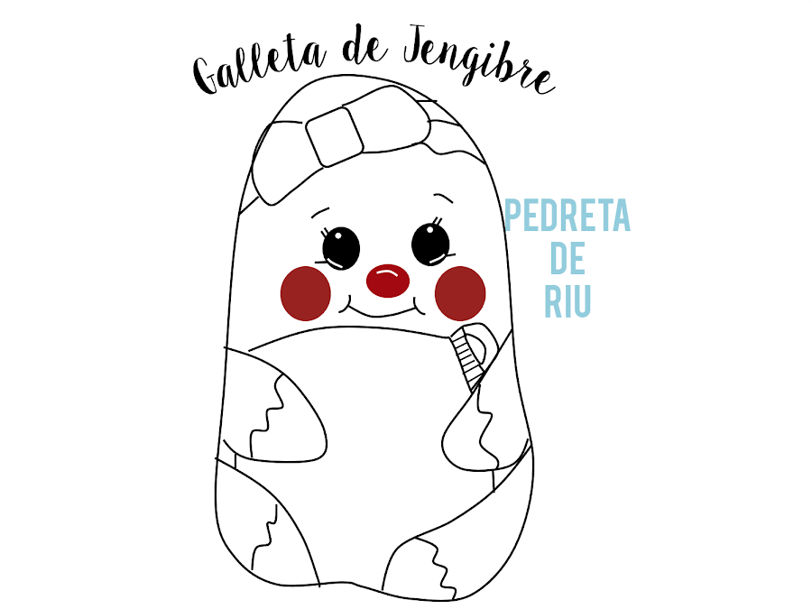 COMO PINTAR PIEDRAS CON GALLETA DE JENGIBRE PASO A PASO