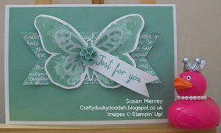 Stampin' Up! Made by Susan Merrey Independent Stampin' Up! Demonstrator, Craftyduckydoodah!, Watercolour Wings, Bold Butterfly Thinlets, Butterflies Thinlets, Mint Macaron,
