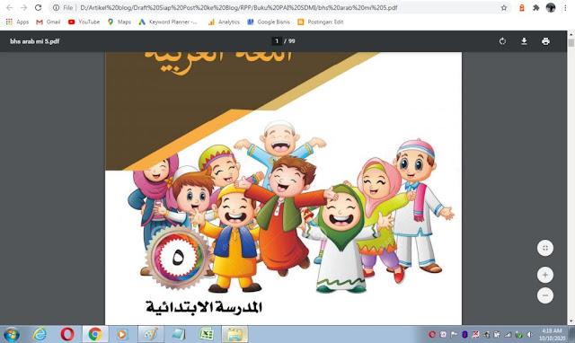 Buku bahasa arab kelas 5 sd/mi sesuai kma 183 tahun 2019