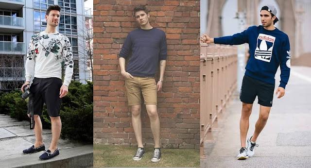 phối đồ unisex với quần short nam