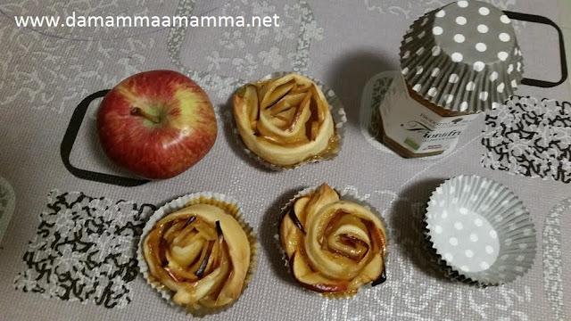 Ricetta: Rose di mele e marmellata all'albicocca