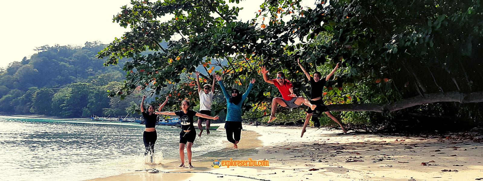 open trip atau wisata gabungan pulau sebesi lampung