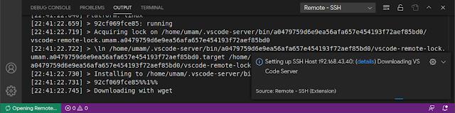 Pengunduhan dan penyiapan VS Code Server