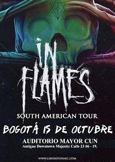 Concierto de IN FLAMES en Bogota 2017 2